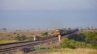NRs on freight passing McIntyre Loop