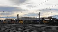 Idling locos at Dynon