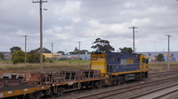 NR35 with empty coil wagons