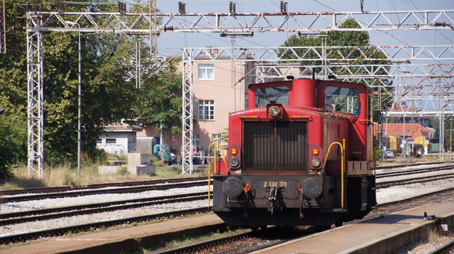 Shunter at West Zagreb Station