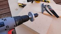 Power drill + Hole saw